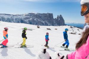 Sciare con tutta la famiglia sull'Alpe di Siusi