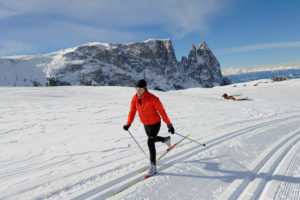 Sci fondo sull'Alpe di Siusi