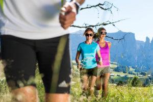Running sull'Alpe di Siusi