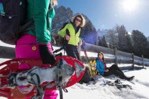 Escursioni invernali e ciaspolate sull'Alpe di Siusi