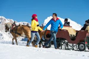 Escursioni invernali sull'Alpe di Siusi